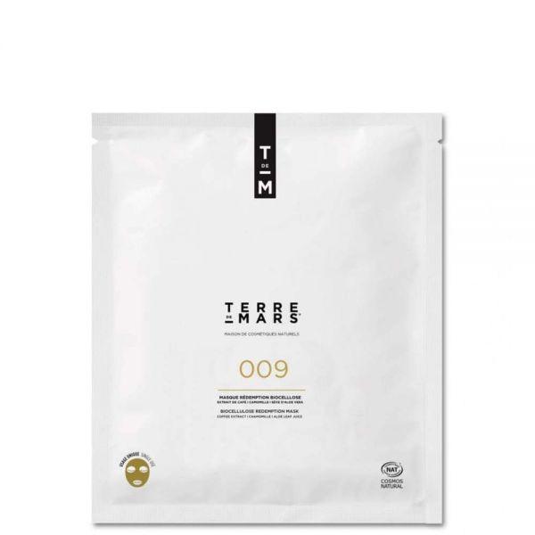 white package of terre de mars 009 redemption biocellulose biodegradable sheet mask