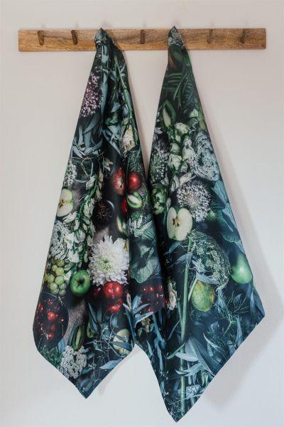 Artichoke & Asparagus Cotton Tea Towel