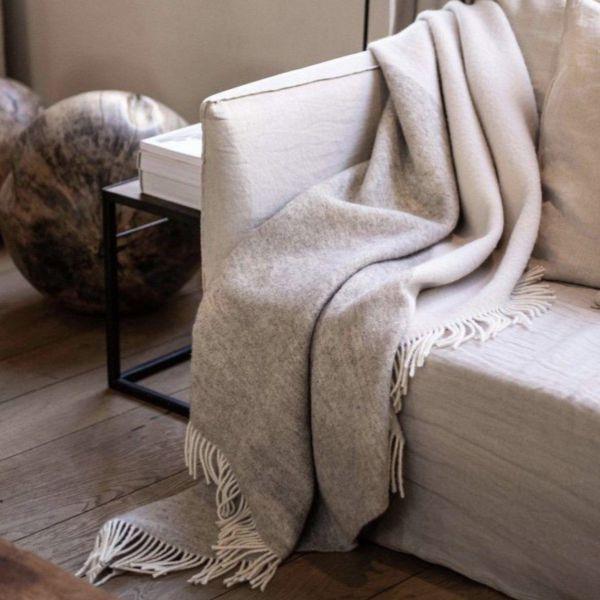 Pure New Wool Throw | Duo Ecru