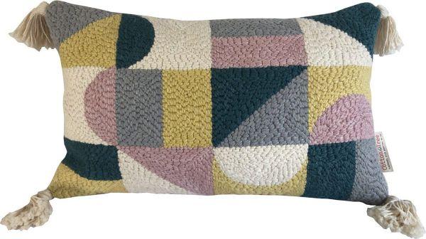 Punch Needle Cushion - Geometric Pattern 1