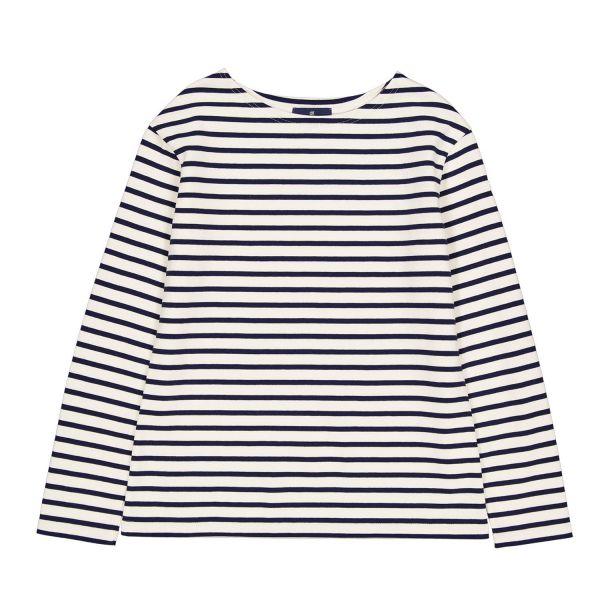 Navy / Ecru Cotton long sleeve t-shirt