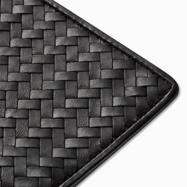 Handwoven Passport Holder, Black: Herringbone Cover