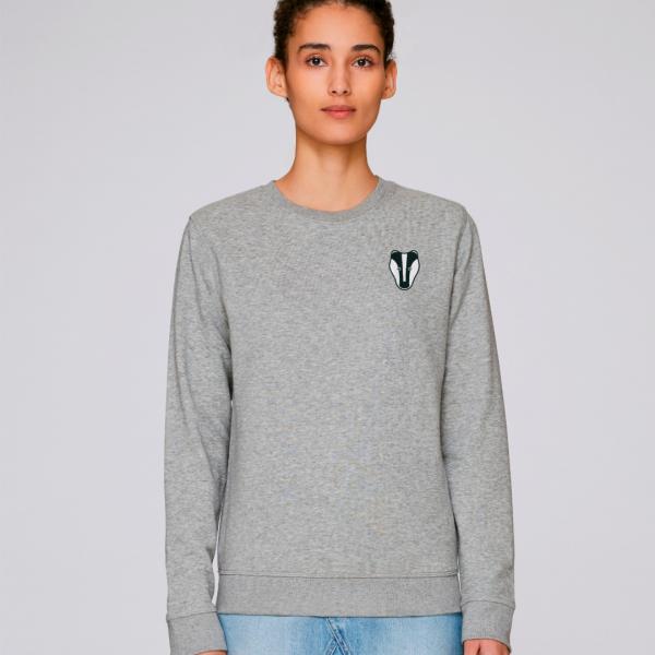 Badger adults organic cotton sweatshirt Grey Marl