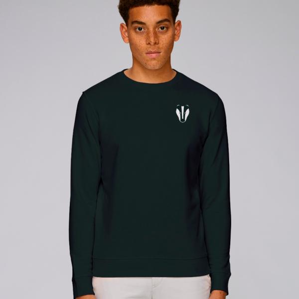 Badger adults organic cotton sweatshirt Black