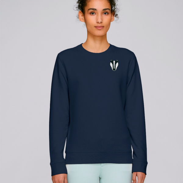 Badger adults organic cotton sweatshirt Navy
