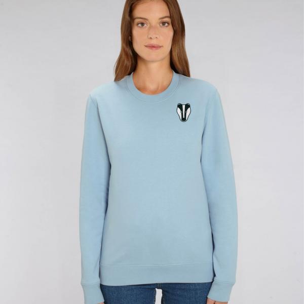 Badger adults organic cotton sweatshirt Pale Blue