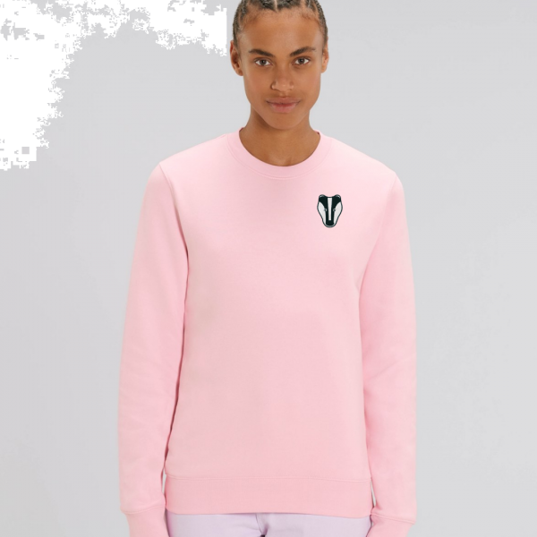 Badger adults organic cotton sweatshirt Pale Pink