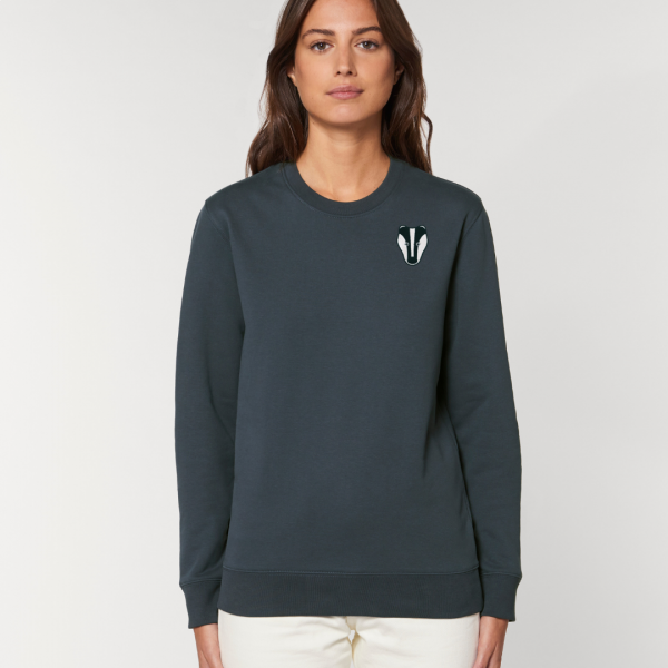 Badger adults organic cotton sweatshirt Ink Grey