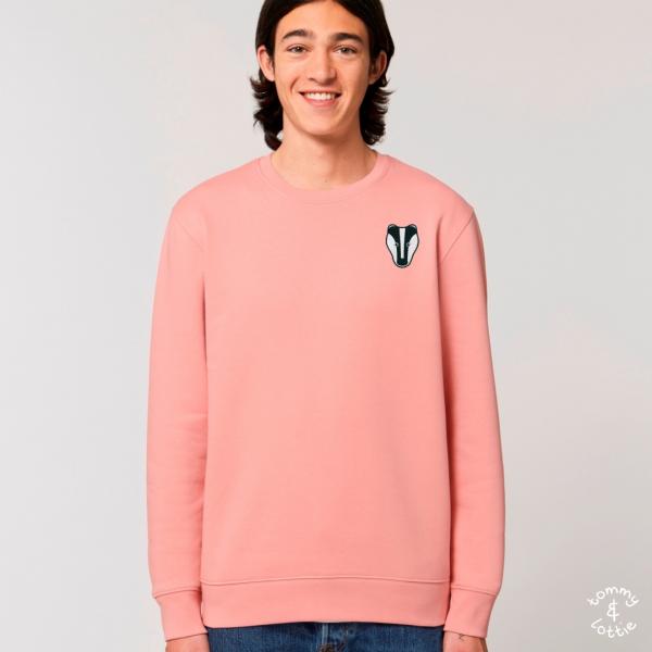 Badger adults organic cotton sweatshirt Canyon Pink