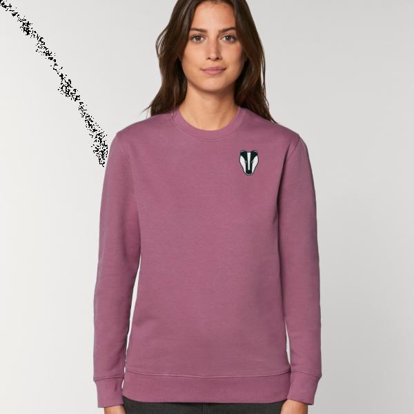 Badger adults organic cotton sweatshirt Mauve