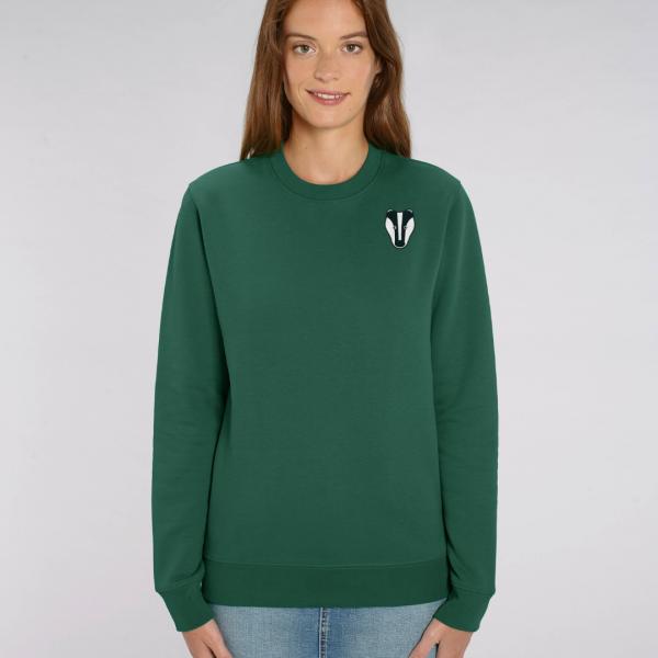Badger adults organic cotton sweatshirt Bottle Green