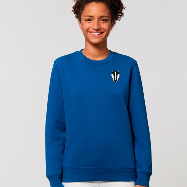 Badger adults organic cotton sweatshirt blue
