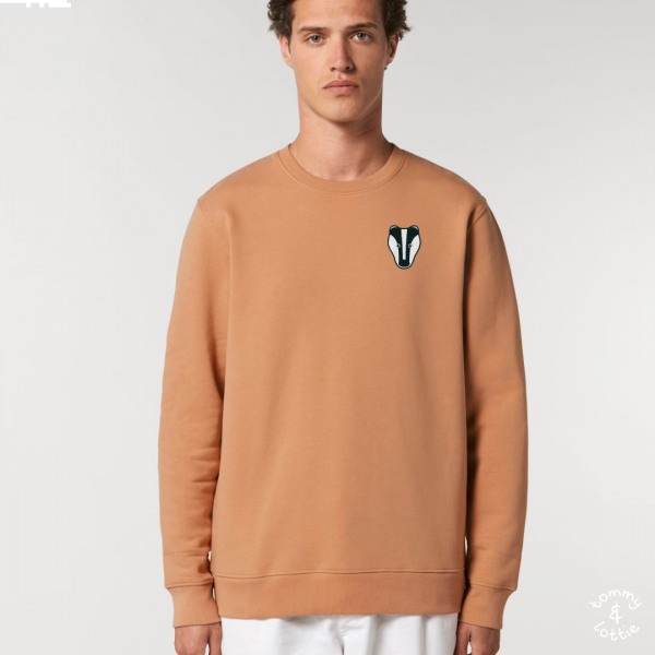 Badger adults organic cotton sweatshirt Mushroom