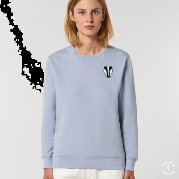 Badger adults organic cotton sweatshirt Serene Blue