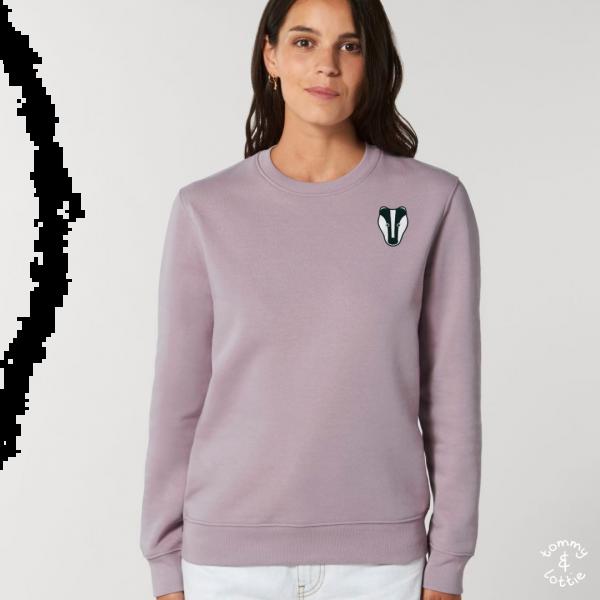 Badger adults organic cotton sweatshirt Lilac Petal