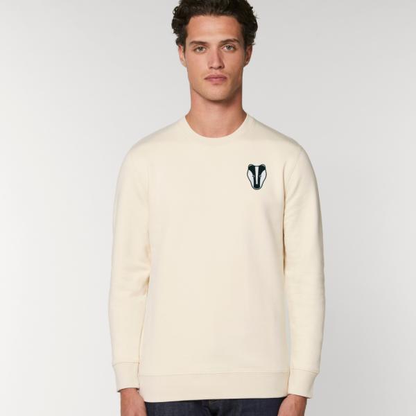 Badger adults organic cotton sweatshirt Natural