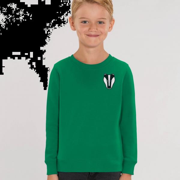 badger kids organic cotton sweatshirt Green