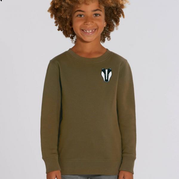 badger kids organic cotton sweatshirt Khaki