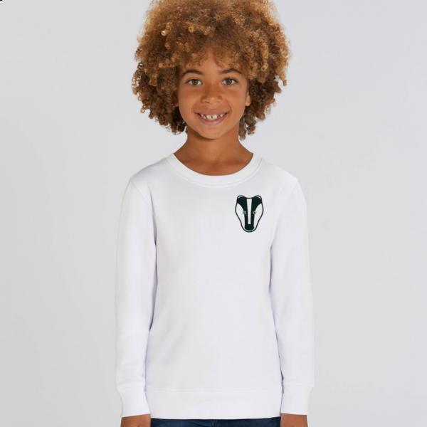 badger kids organic cotton sweatshirt White