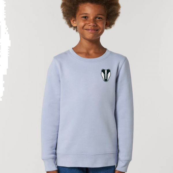 badger kids organic cotton sweatshirt Serene Blue