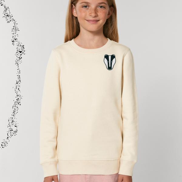 badger kids organic cotton sweatshirt Natural