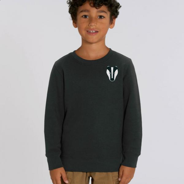 badger kids organic cotton sweatshirt Black