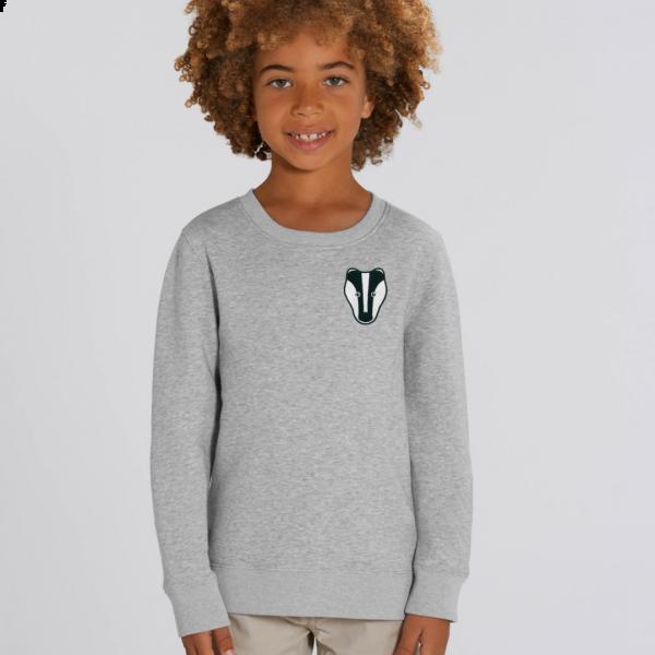 badger kids organic cotton sweatshirt Grey Marl