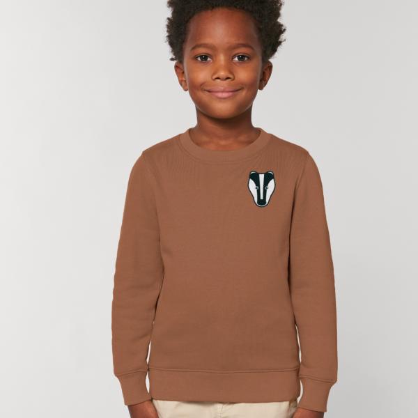badger kids organic cotton sweatshirt Caramel