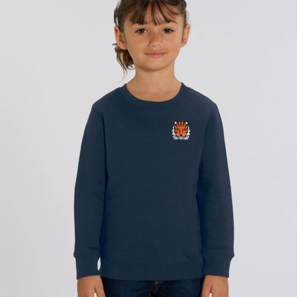 tiger kids organic cotton sweatshirt Navy