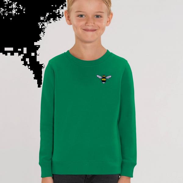 bee kids organic cotton sweatshirt Green