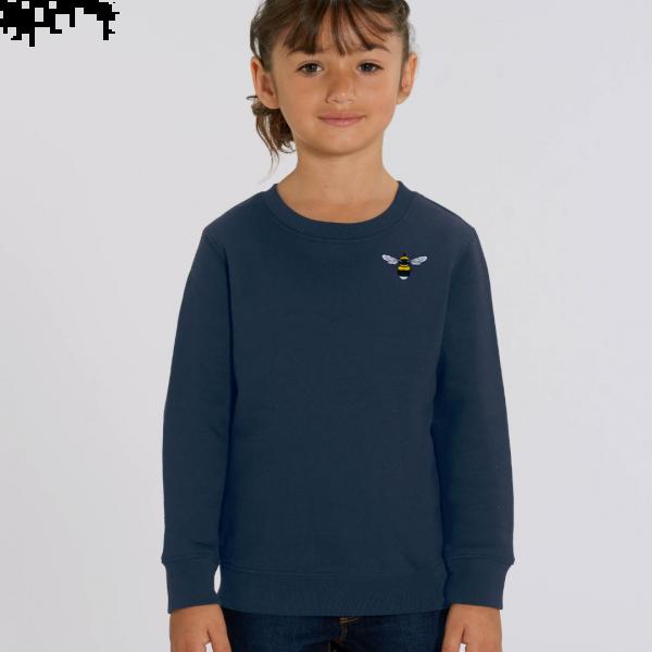 bee kids organic cotton sweatshirt Navy