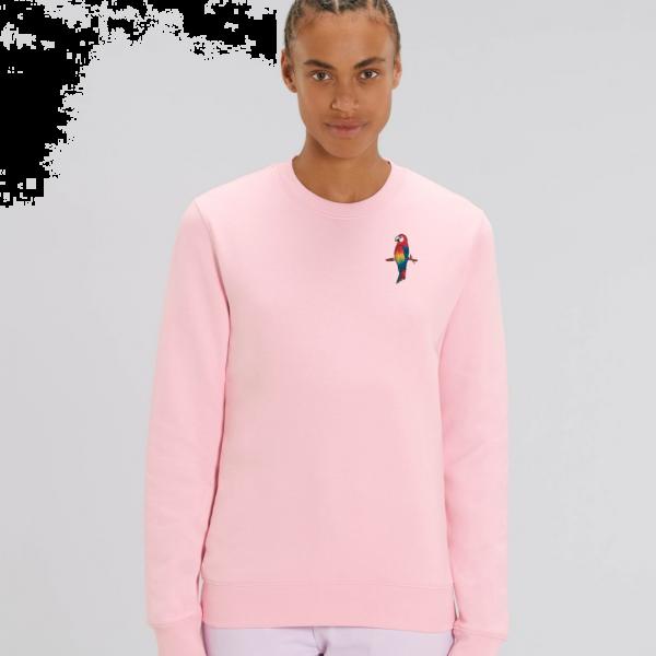 parrot adults organic cotton sweatshirt Pale Pink