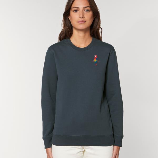 parrot adults organic cotton sweatshirt Ink Grey