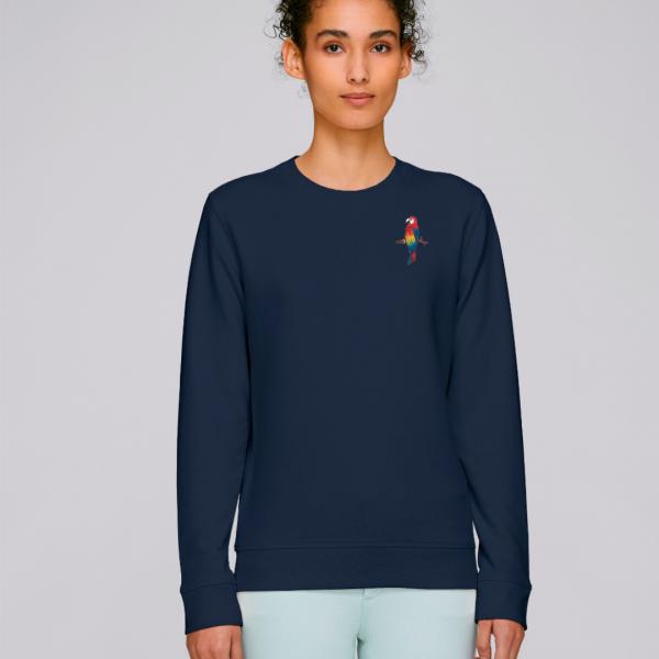 parrot adults organic cotton sweatshirt Navy