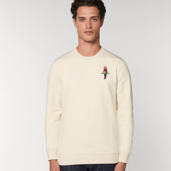 parrot adults organic cotton sweatshirt Natural