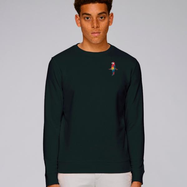 parrot adults organic cotton sweatshirt Black