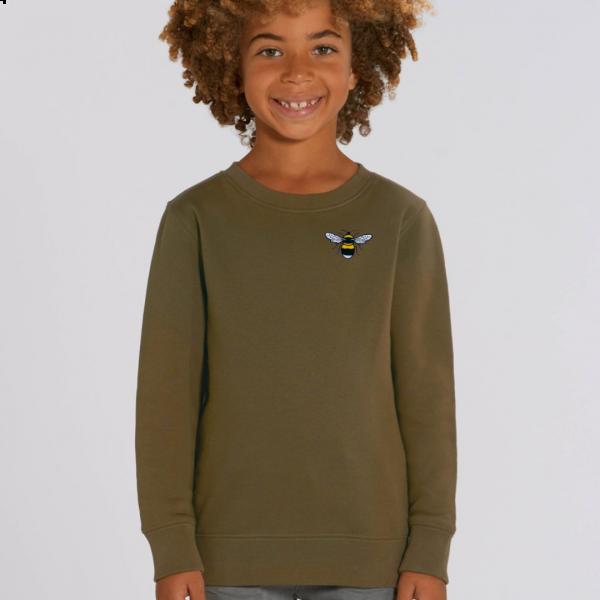 bee kids organic cotton sweatshirt Khaki