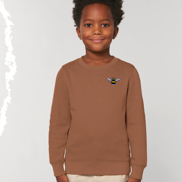 bee kids organic cotton sweatshirt Caramel
