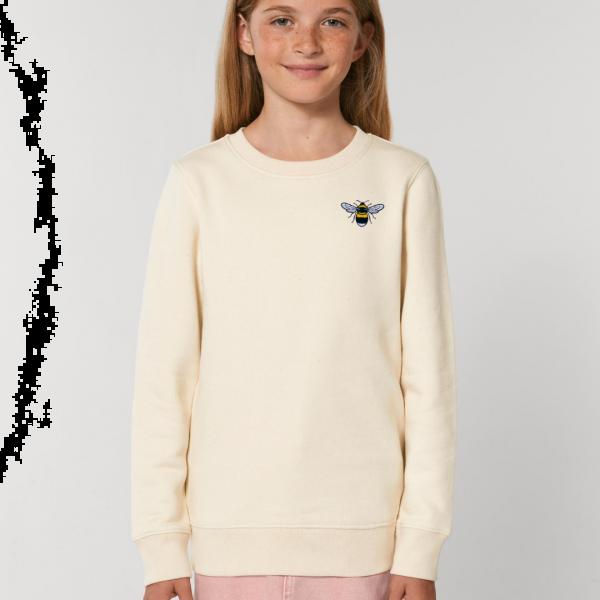 bee kids organic cotton sweatshirt Natural