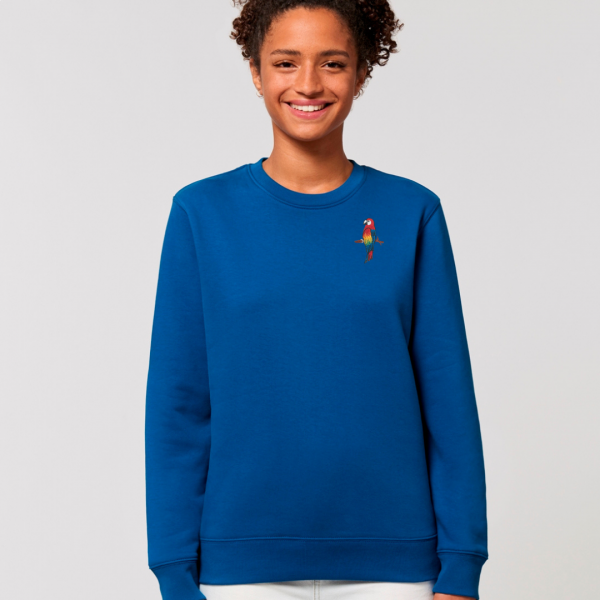 parrot adults organic cotton sweatshirt Blue