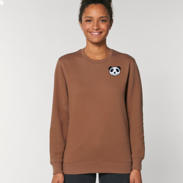 panda adults organic cotton sweatshirt Caramel