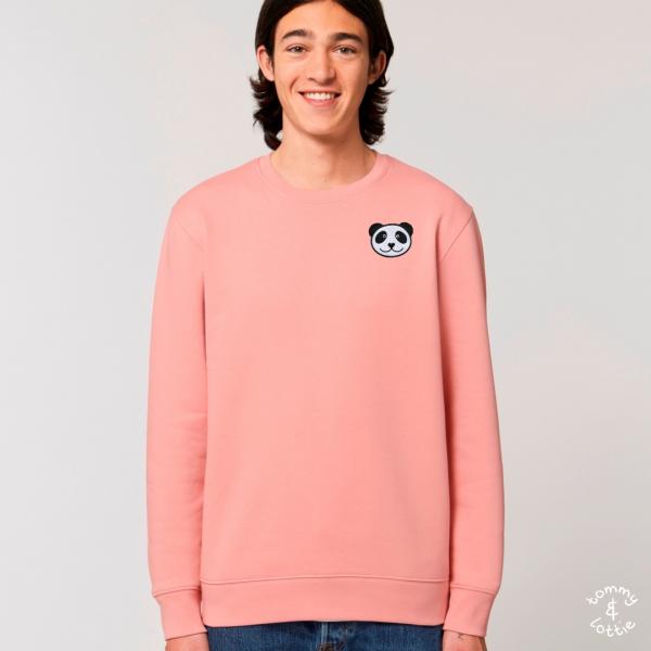 panda adults organic cotton sweatshirt Canyon Pink