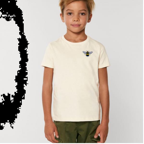 bee kids unisex organic cotton t shirt Natural