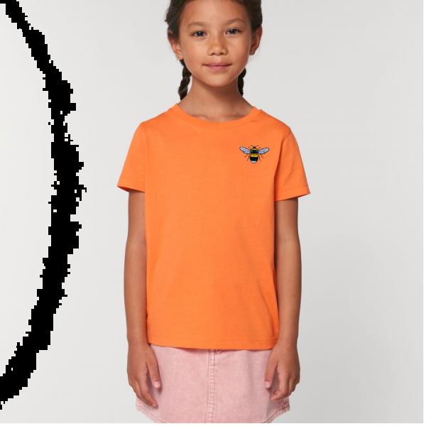 bee kids unisex organic cotton t shirt Melon Code