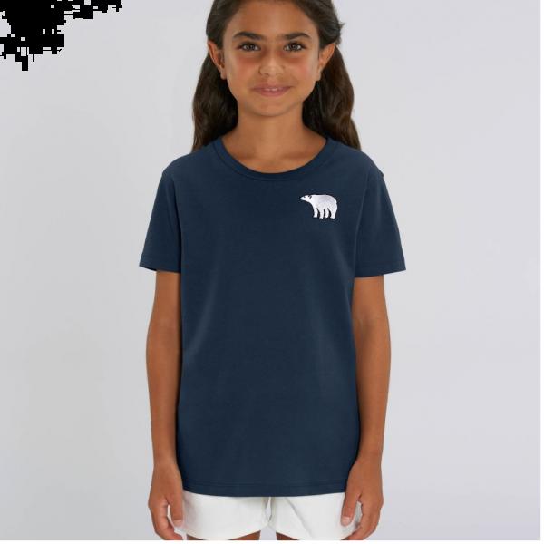 polar bear kids - unisex organic cotton t shirt Navy