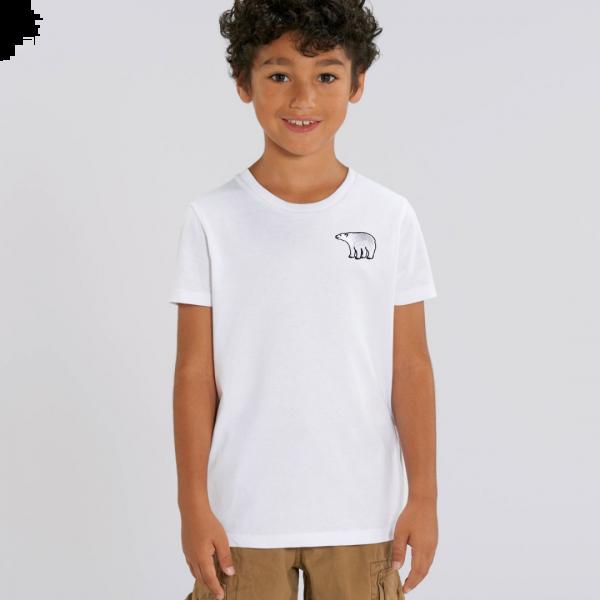 polar bear kids - unisex organic cotton t shirt White