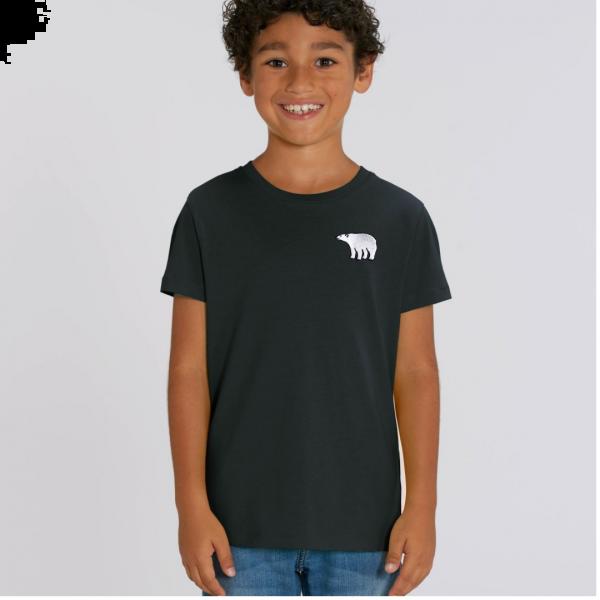polar bear kids - unisex organic cotton t shirt Black