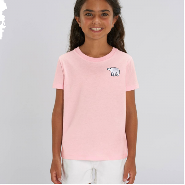 polar bear kids - unisex organic cotton t shirt Pale Pink