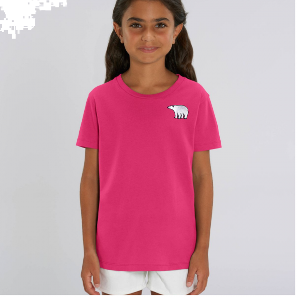 polar bear kids - unisex organic cotton t shirt Raspberry Pink