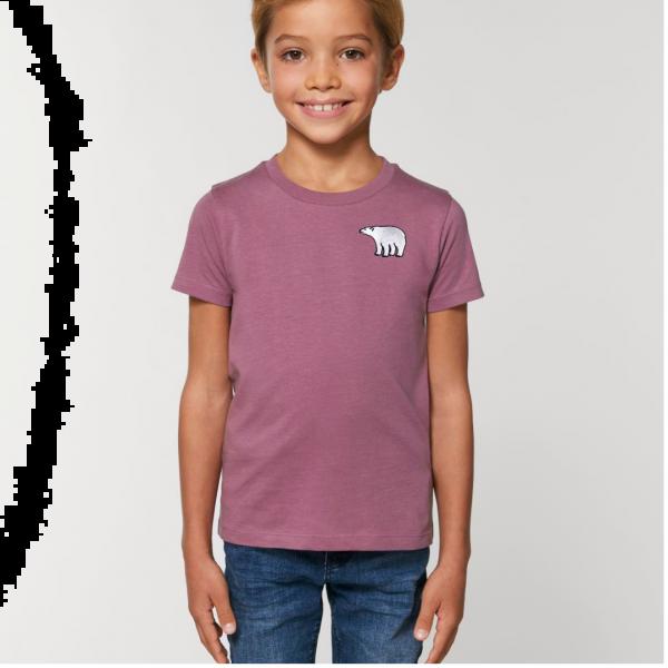 polar bear kids - unisex organic cotton t shirt Mauve